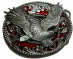 Eagle Oval Belt Buckle + display stand. Code RL4